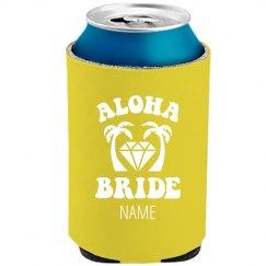 Aloha Beach Bride Neon Koozie