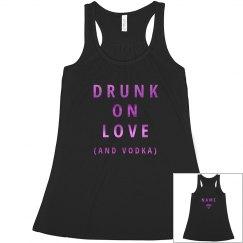Pink Metallic Bride Drunk On Love & Vodka