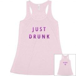 Pink Metallic Just Drunk Bachelorette
