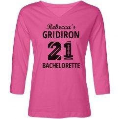 Gridiron Bachelorette Football Shirt