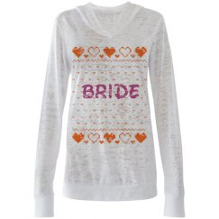 Bride Ugly Xmas Hooded Te