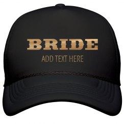 Shiny Gold Western Bride