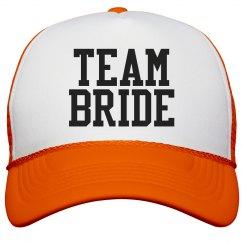 Team Bride Varsity Orange