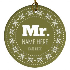 Custom New Mr Mrs Holiday Gifts