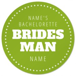 Bridesman Gift Custom Coaster
