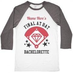 Final At Bat Bride Baseball Girl