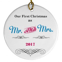Our First Xmas as Mr Mrs
