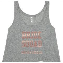 Metallic Bride Squad Bling Tee