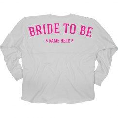 Custom Bride To Be Neon Jersey