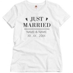 Custom Just Married