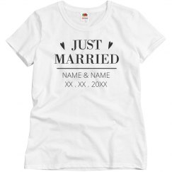 Custom Just Married