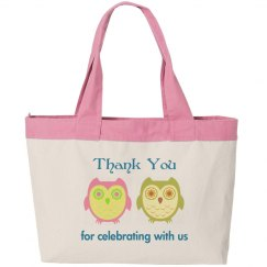 Cute tote bag for wedding favor guests
