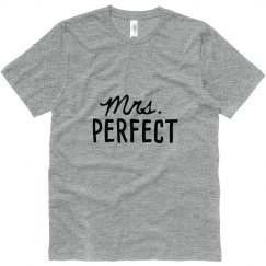 His Mrs. Perfect Matching Newlywed Shirt