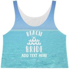 All Over Ocean Printing Beach Bride