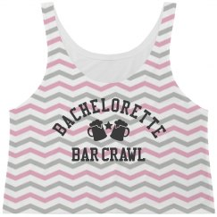 Chevron Bachelorette Bar Crawl Tank Top