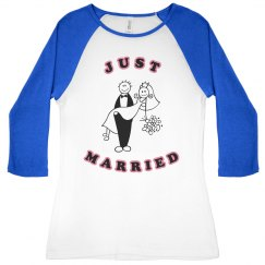 Pink Just Married Tee