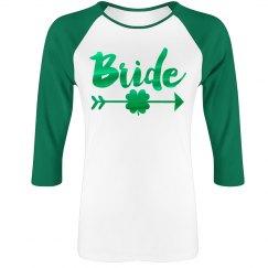 Green Metallic Irish Bride Raglan