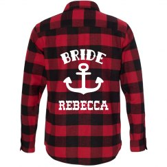 Bride Nautical Flannel Shirt
