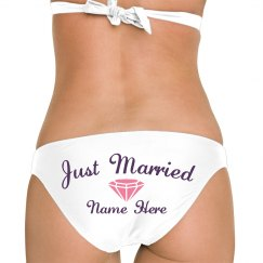 Just Married Custom Booty