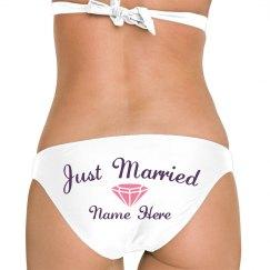 Just Married Custom Booty