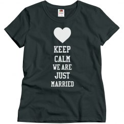 Keep Calm We Are Just Married Shirt