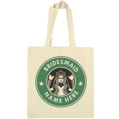 Custom Bridesmaid Coffee Logo