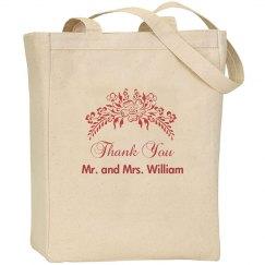 Floral Wedding Favor Bag