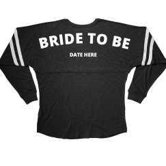 Custom Date Bride To Be Long Sleeve Jersey With Stripes