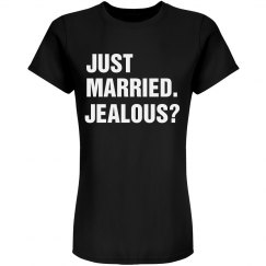 Just Married Blue Tee
