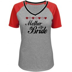 Mother of the Bride Heart T-shirt