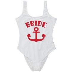 Nautical Bride Bachelorette Swim