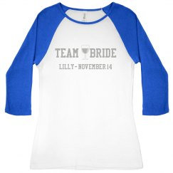 Team Bride Wine Tee