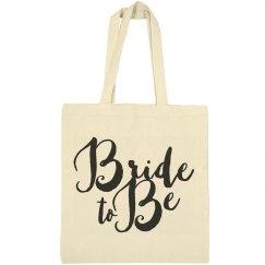 Bride To Be Matching Brush Script