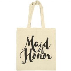 Maid Of Honor Gift Brush Script