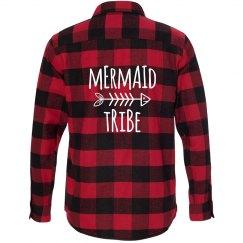 Mermaid Tribe Flannel Shirt
