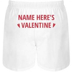Custom Name's Valentine Husband