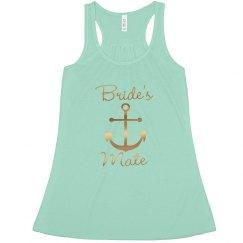 Nautical Anchor Bride's Mate bachelorette tank top