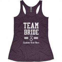 Custom Diamond Team Bride Bachelorette Party Shirts