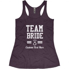 Custom Diamond Team Bride Bachelorette Party Shirts