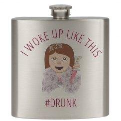 Drunk Bride Emoji Flask