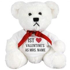 Custom Mrs 1st Valentine's