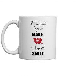 You Make My Heart Smile Mug