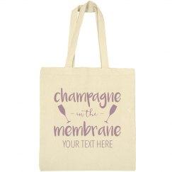 Custom Text Champagne Membrane