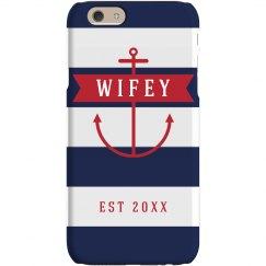Custom Wifey Anchor Phone Case