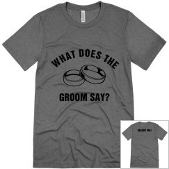 What Does The Groom Say?