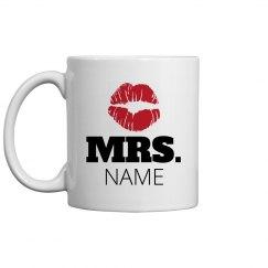 Mrs. Custom Name Lips