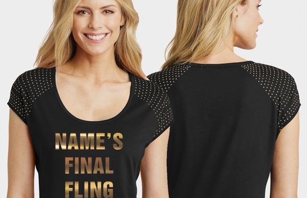 Custom Fling Fling Bling Tee Black