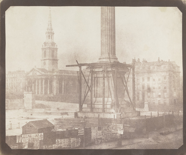 William Henry Fox Talbot, The Building of Nelson's Column ca., 1843