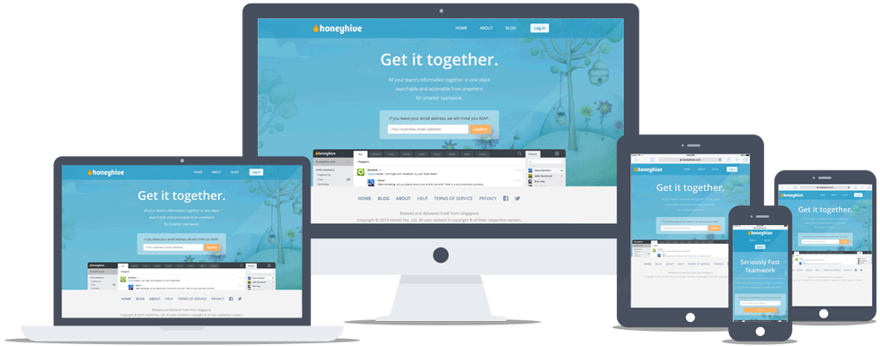 Honeyhive Website on Various Devices