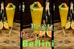 Basil Peach Bellini